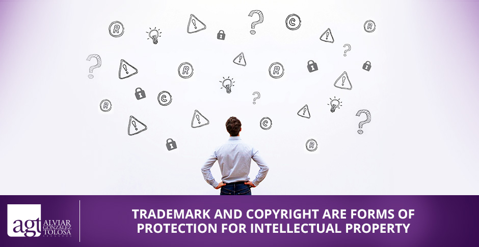 Man Loonking  at Trademark Vs. Copyright Signs