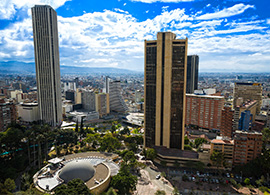 Panoramic View of Bogotá Colombia
