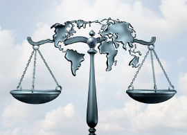 Legal Balance With The World Map